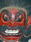 Horrible Mask in a museum, Madhya Pradesh, India - stock photo