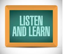 Stock Illustration of listen and learn message illustration