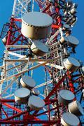 Large transmission tower - stock photo