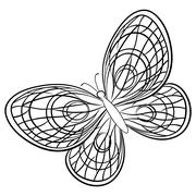 Butterfly, contours Stock Illustration