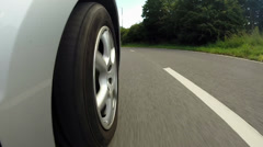 Low Angle View As Car Joins Motorway Stock Footage