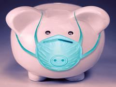 Protection from Swine flu, Concept Stock Photos
