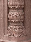 Stock Photo of Carved Pillar at Taj-ul Masjid