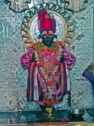 Temple of Hindu's idols Vitthal and Rukmini - stock photo