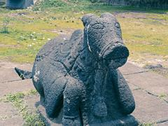 Statue of Nandi at a Temple, Saswad, Pune, Maharashtra, India Stock Photos
