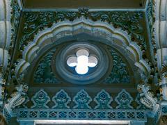 Interior of Lord Shiva Temple at Mahadji Shinde Chatri, Wanawadi - stock photo