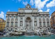 Stock Photo of trevi fountain, rome, italy
