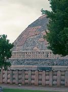 Landscape view of Sanchi Stupa No. one, Sanchi, Madhya pradesh, - stock photo