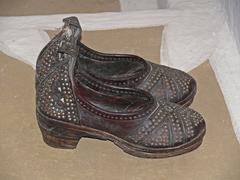 Traditional Rajasthani Leather Mojadi - stock photo