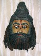 Stock Photo of Mask of a Holy Sage in a Museum, Madhya pradesh, India