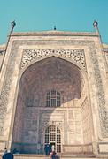 Stock Photo of Entrance of Taj Mahal, Agra, India