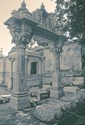 Decorative arch at Acheleshwar Mahadeva Temple, Mount Abu, Rajas Stock Photos