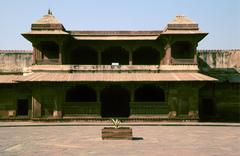 Palace of Queen Jodha Baii, Fatehpur Sikri, Agra, India Stock Photos