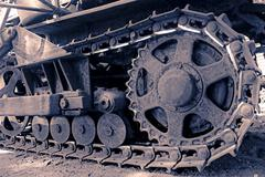 Close up of a Excavator bulldozer - stock photo