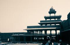 Panch Mahal, Fatehpur Sikri, Agra, India - stock photo