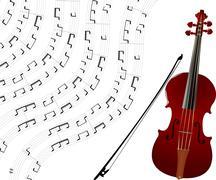 Violin background - stock illustration