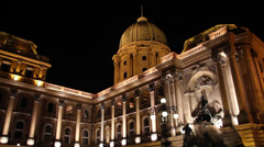 NIGHT BUDA CASTLE 4 FONTAIN ELS - stock footage