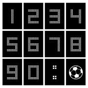 Stock Illustration of score board number