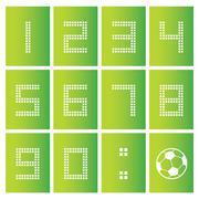 score board number - stock illustration