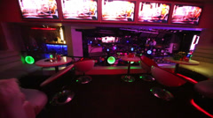 Interior of room on second floor in nightclub Pacha Moscow. Stock Footage