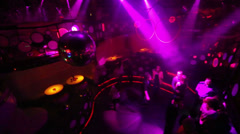 People dance at dancefloor during party in Pacha nightclub. Stock Footage
