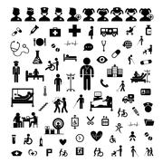 Doctor icon and hospital Stock Illustration