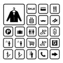 Stock Illustration of shopping mall icons set