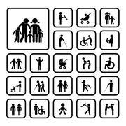 Happy family icon Stock Illustration
