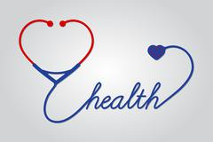 Stock Illustration of stethoscope with heart, medical symbol, vector