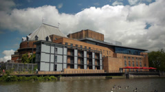 Royal Shakespeare Theatre Stratford. Stock Footage