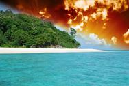 Stock Photo of Storm approaching Bamboo Island, Asia
