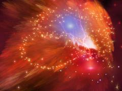 Orange nebula Stock Illustration