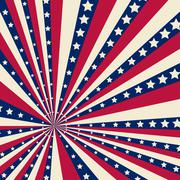 American striped background - stock illustration