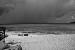 Storm approaching Saint Maarten Island Stock Photos