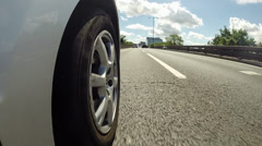Low Angle View As Car Drives On Motorway Stock Footage