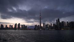 Toronto Skyline (Dusk) Stock Footage