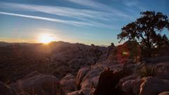 Desert Sunset Timelapse HDR Stock Footage