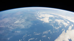 International Space Station Over the Strait of Gibraltar and Africa - stock footage
