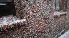 The Seattle Gum wall Stock Footage