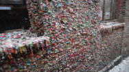 Stock Video Footage of The Seattle Gum wall