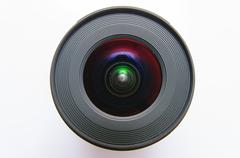 Isolated wide angle lens Stock Photos