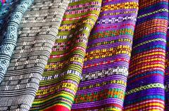 textiles from laos - stock photo