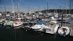Harbour Marina, Bainbridge Island WA Stock Footage
