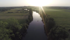 2.7K AERIAL SHOT OF A RIVER Stock Footage