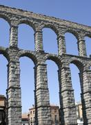 Segovia aqueduct - stock photo