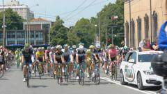 Tour of italy cycling race Stock Footage