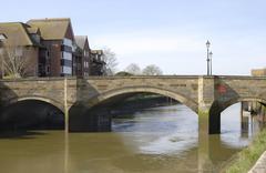Bridge over River Arun at Arundel. Sussex. England - stock photo