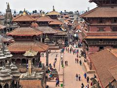 The Ancient Patan Durbar Square in Kathmandu, Nepal - stock photo