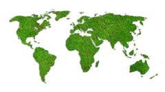 Vihreä maailmankartta sammalen rakenne Kuvituskuvat