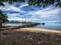 Main Pier on Komodo Island, East Nusa Tenggara, Indonesia Stock Photos